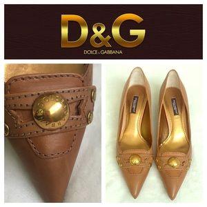 Dolce & Gabbana Tan Pumps SZ. 5.5